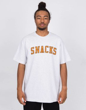 Quartersnacks Quartersnacks Varsity Snacks T-Shirt Ash Grey