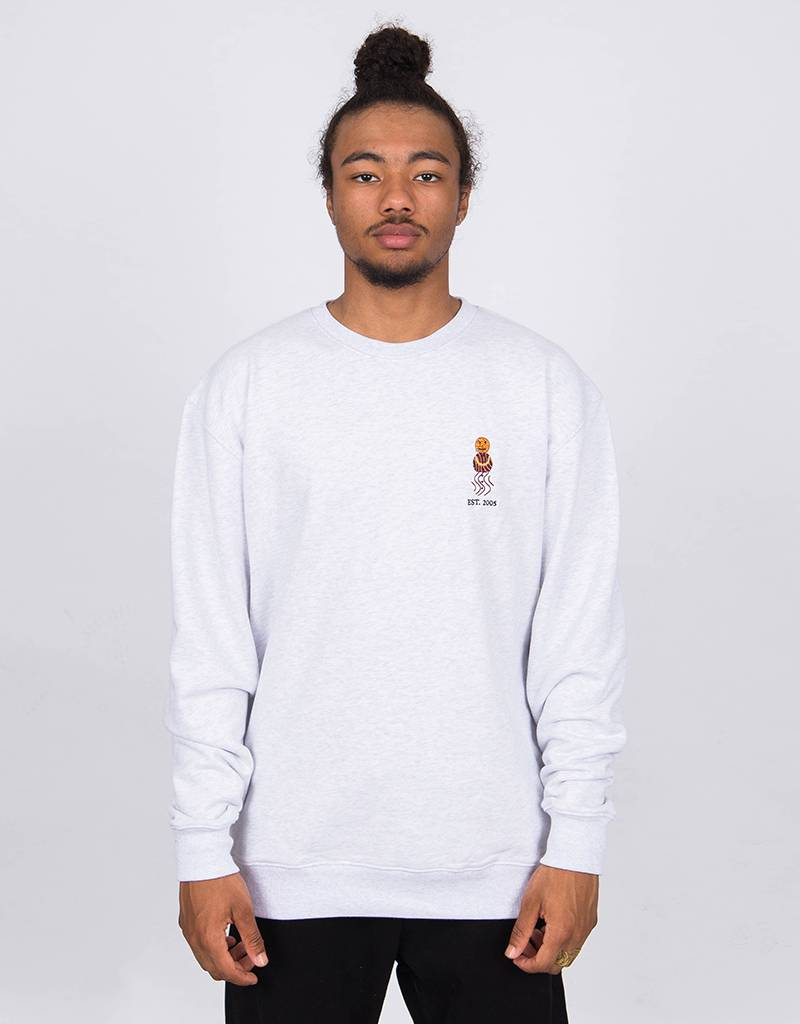 Quartersnacks Embroidered Snackman Crewneck Ash Grey