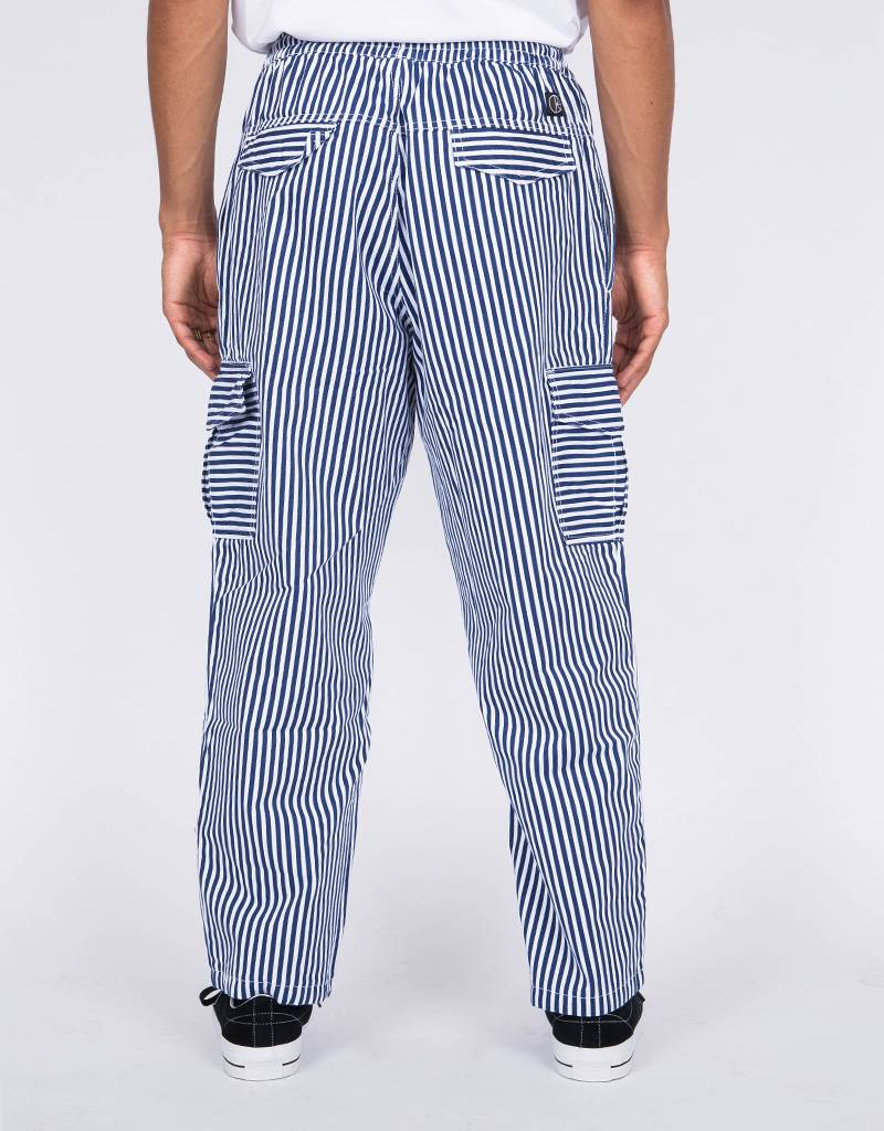 Polar Striped Cargo Pants White/Navy