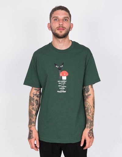 Stingwater Groe Together Red Cap T-Shirt Forest Green