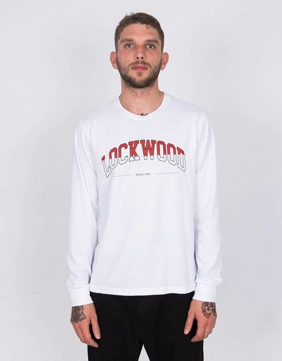 Lockwood Half-Fill College Longsleevee White