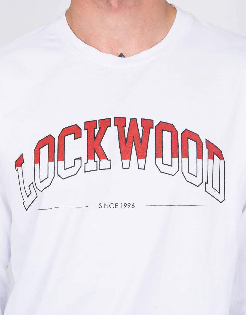 Lockwood Half-Fill College Longsleeve White