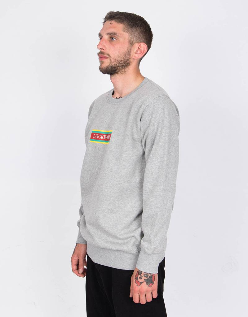 Lockwood Crewneck Flag Logo Afrika Grey