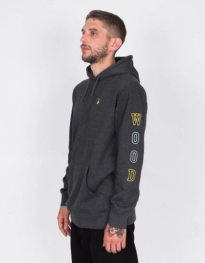 Lockwood Multicolor Sleeve Hoodie Charcoal