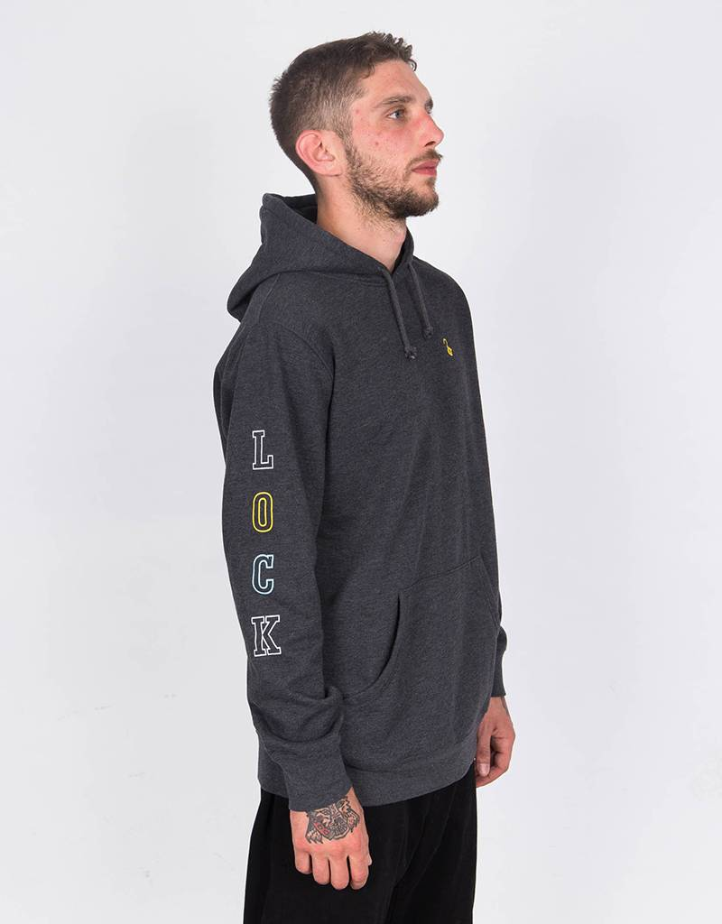 Lockwood Multicolor Sleeve Hoodie Black
