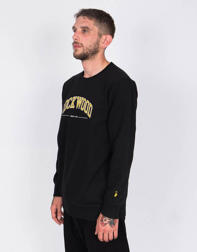 Lockwood Yellow College Crewneck Black