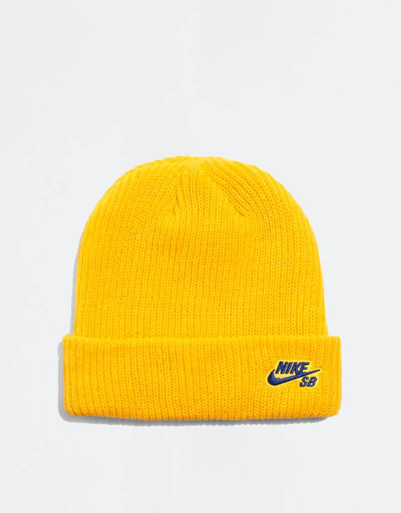 Nike Fisherman Beanie Midnight Yellow Ochre/Blue Void