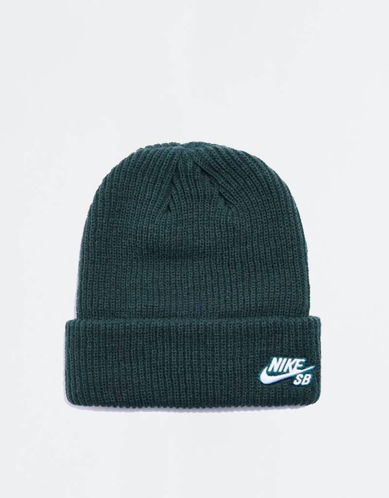 Nike Fisherman Beanie Midnight Green/White