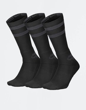 Nike SB Nike SB Crew Socks 3 Pair Black/Anthracite