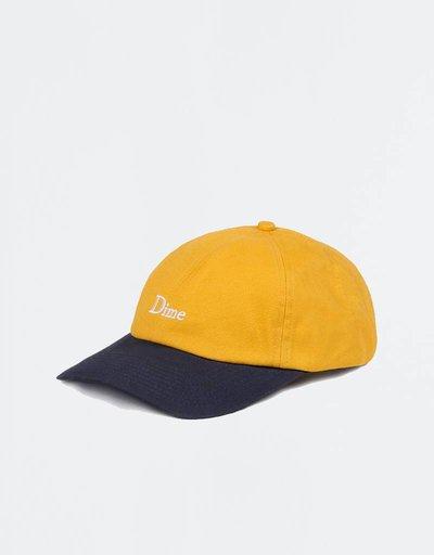 09460327034 Dime Twotone Classic Logo Cap Yellow Navy