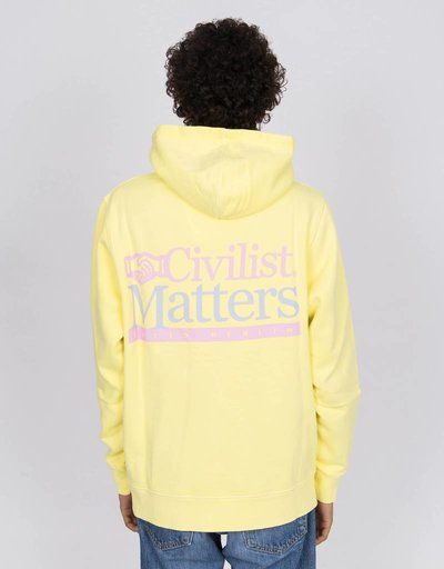 Civilist Matters Hood Garment-Dyed Yellow