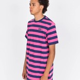 Civilist Stripe Tee Magenta/Navy
