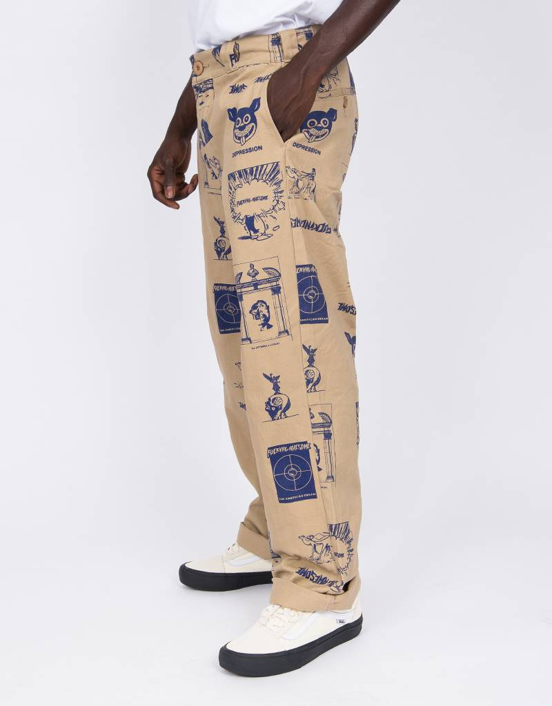 Fucking Awesome Cut Outs Workpants Khaki/Black