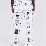 Fucking Awesome Cut Outs Workpants White/BlacK