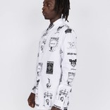 Fucking Awesome Cut Outs Dress Shirt White/Black