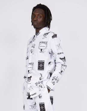 Fucking Awesome Fucking Awesome Cut Outs Dress Shirt White/Black