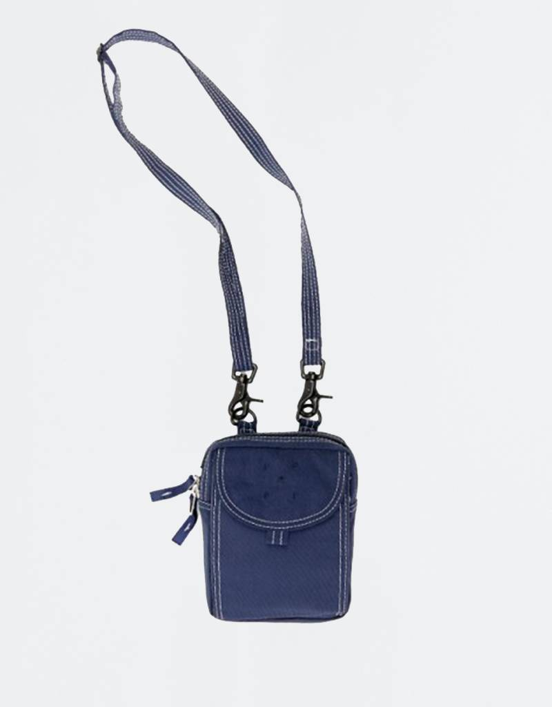 Pop Trading Company Passport Pouch Navy