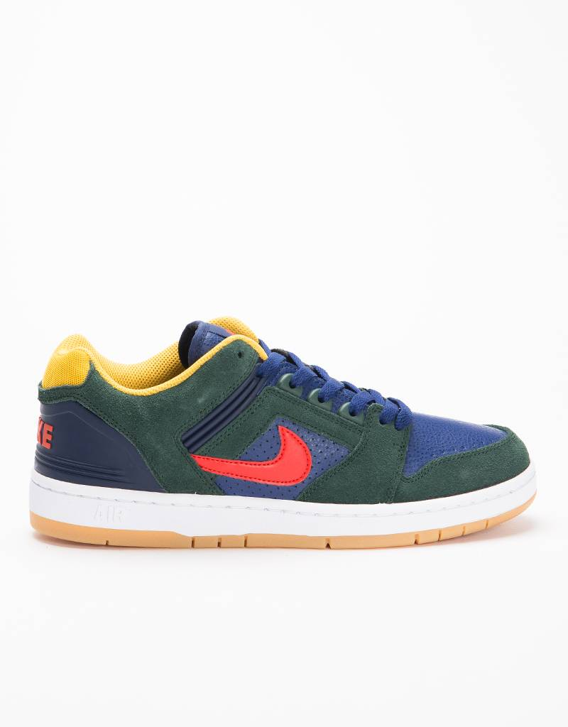 Nike SB Air Force II Low Yellow Ochre/Midnight Green/Habanero Red/Blue Void
