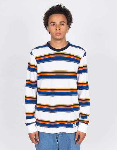 adidas Yarn Dye Longsleeve White/navy/yellow/orange