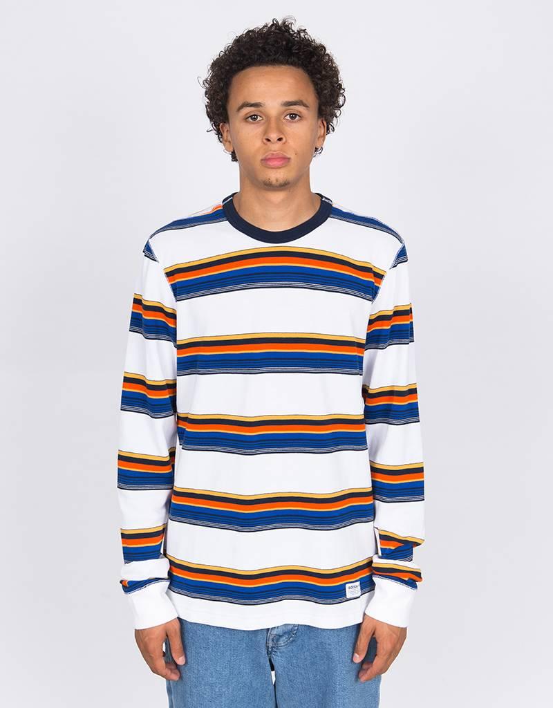adidas Yarn Dye Longsleeve White/navy/yellow/orange