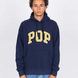 Pop Trading Company Arch Logo Hooded Sweat Navy