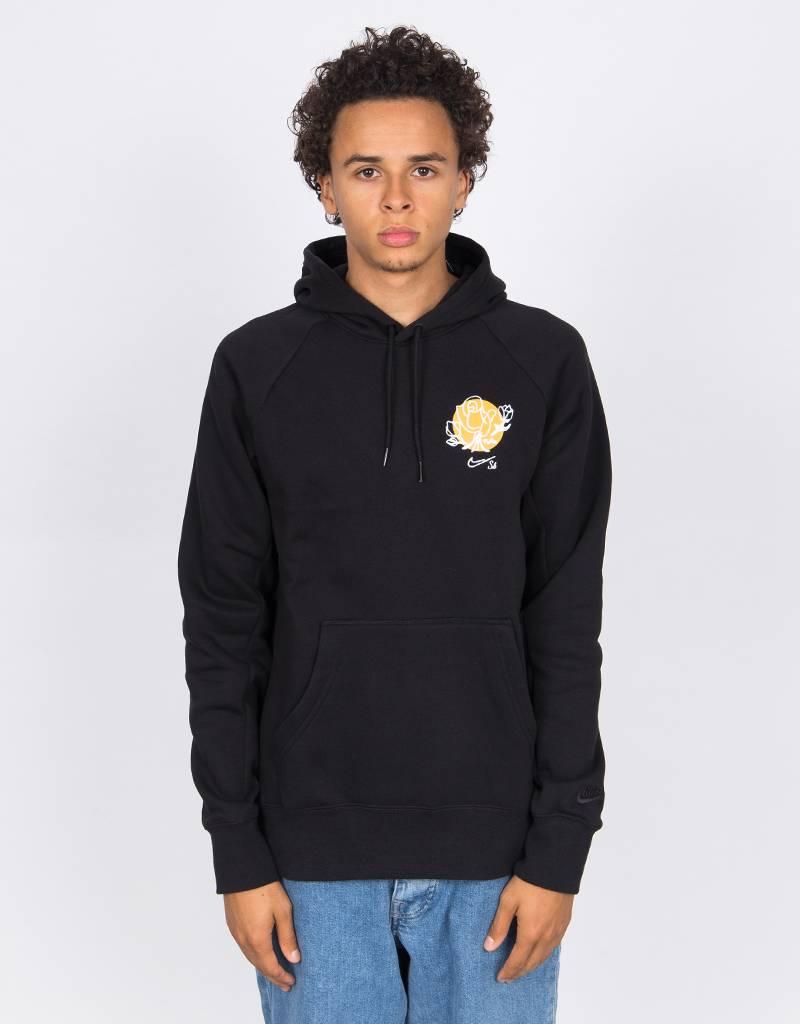 Nike SB Floral Icon Hoodie Black