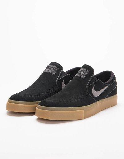Nike SB Zoom Stefan Janoski Slip black/gunsmoke-gum light brown