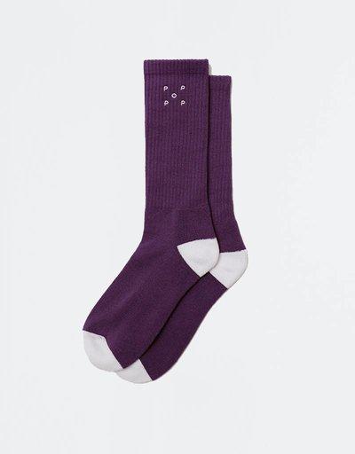 Pop Trading Company Sport Socks Eggplant
