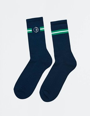 Polar Polar Stroke Logo Socks Navy/Green/White