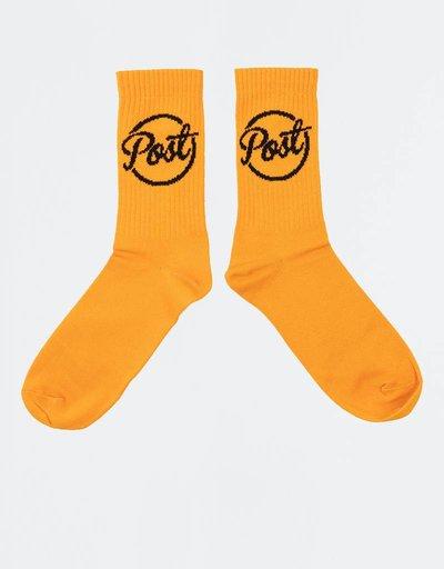 Post Details Ball Logo Socks Orange