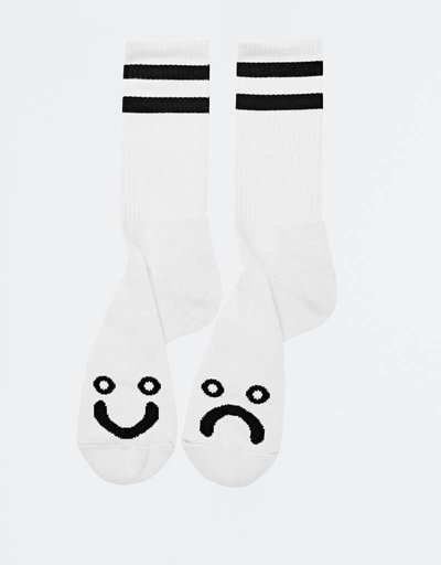 Polar Happy Sad Socks White