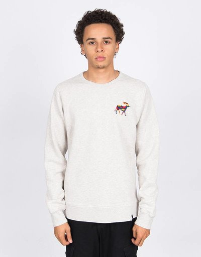Parra Retired Racer Crewneck Oatmeal
