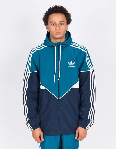adidas Premiere Windbreaker Jacket Teal/Navy/White