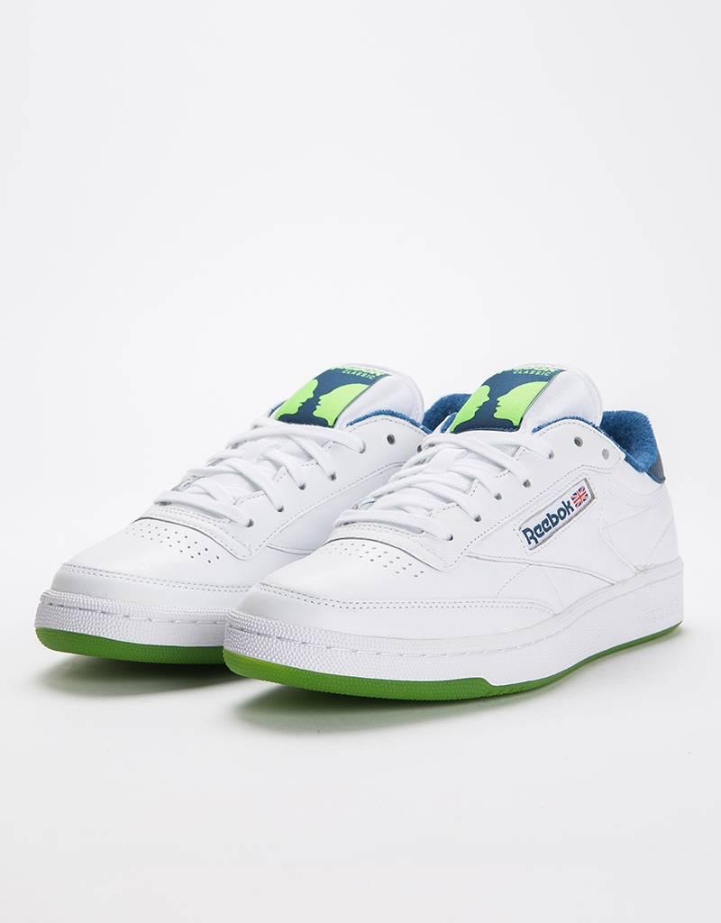9b6371dccff33b Reebok Classics x Bronze 56K Club C 85 MU White Noble Blue Sushi Green -  Lockwood Skateshop