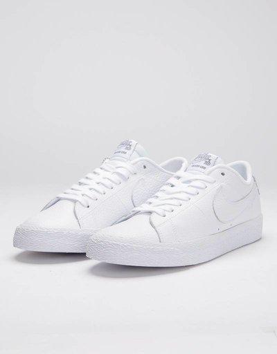 Nike SB Zoom Blazer Low NBA White/White-Rush Blue-University Red