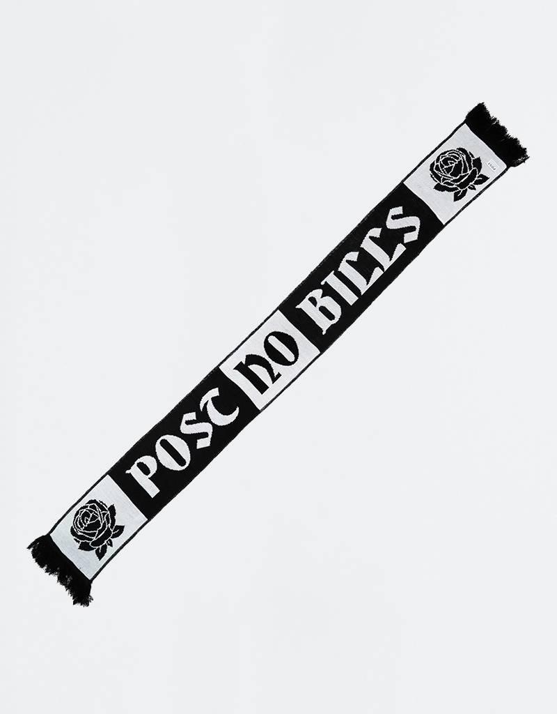 Post Details Roses Scarf Black/White