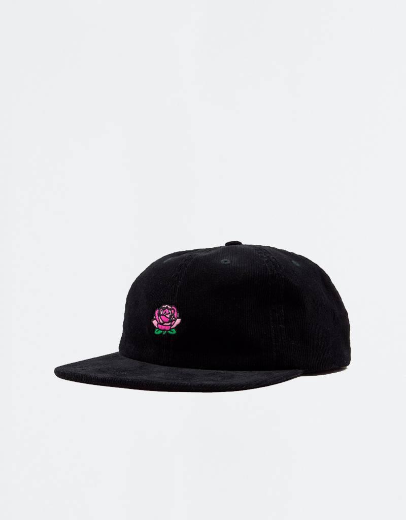 Post Details Roses Sixpanel Corduroy Cap Black