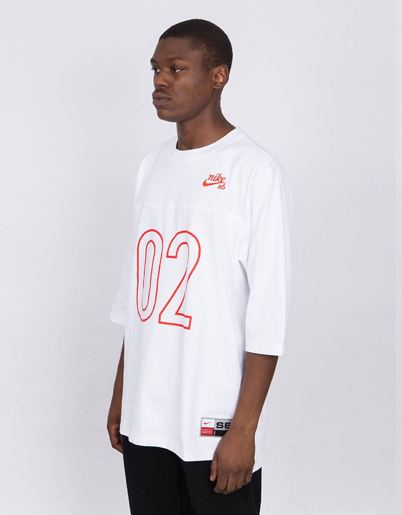 Nike SB Dry Top Jersey White/Habanero Red