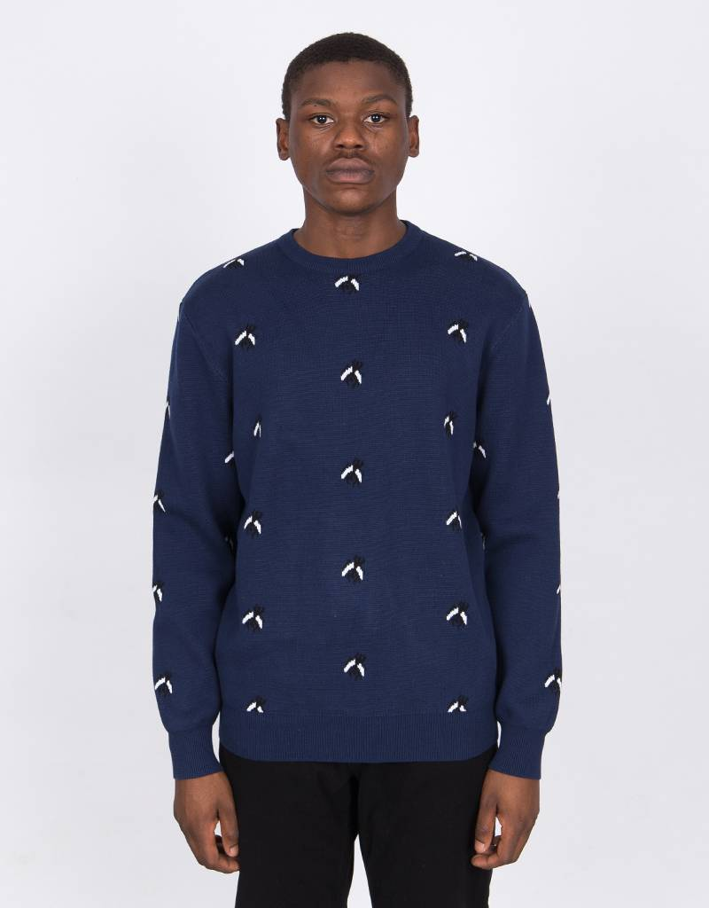 Fucking Awesome Flies Knit Crew Navy