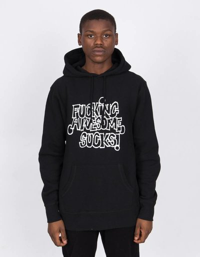Fucking Awesome FA Sucks Hoodie Black