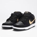 Nike Sb Dunk Low Pro Black/Metallic Gold-White