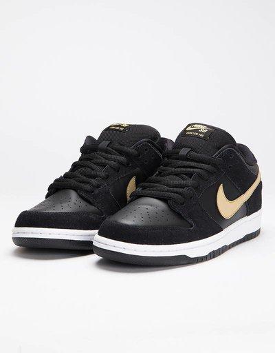d1e1c94e418b0 Nike Sb Dunk Low Pro Black Metallic Gold-White