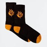 Magenta Plant Socks Black/Orange