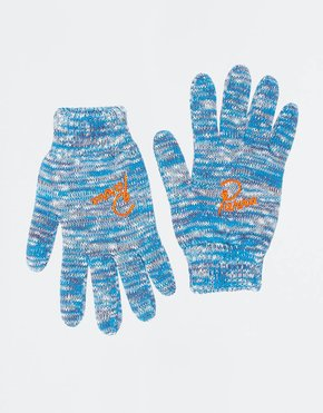 Parra Parra Mélange Knitted Gloves Blue/Purple/Off White
