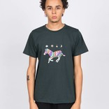 Magenta Zebra T-shirt Dark Green