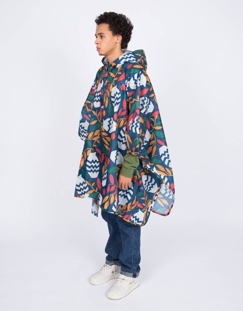 Parra Still Life With Plant Rain Poncho Multi