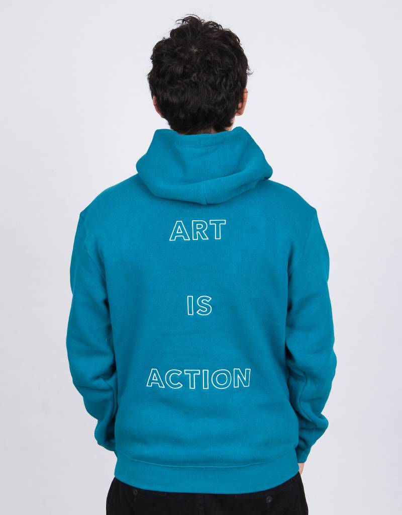 Poetic Collective Art Is Action Hoodie Jade