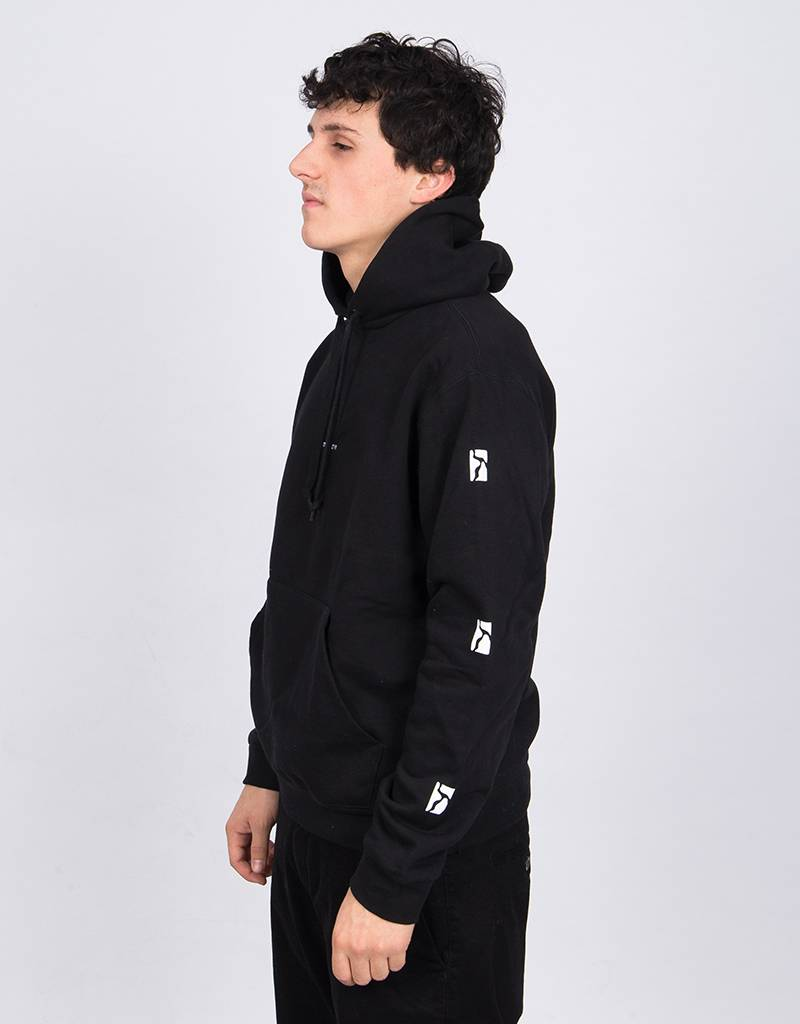 Poetic Collective Sleeve  Hoodie Black
