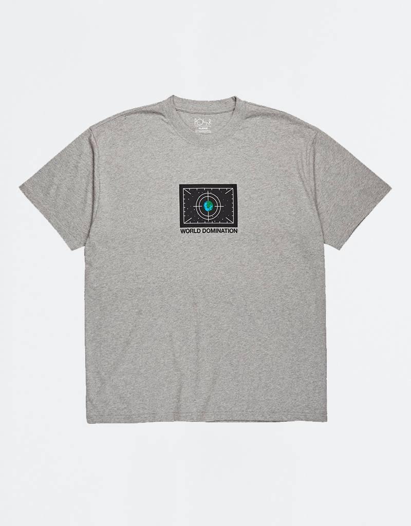 Polar World Domination T-Shirt Heather Grey