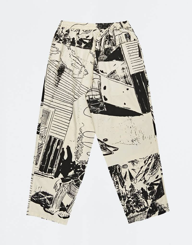 Polar TK Surf Pants Ecru/Black